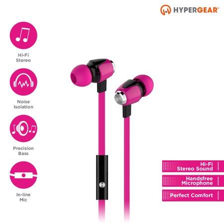 HyperGear Pink dBM Wave Earphones w/Mic 3.5mm
