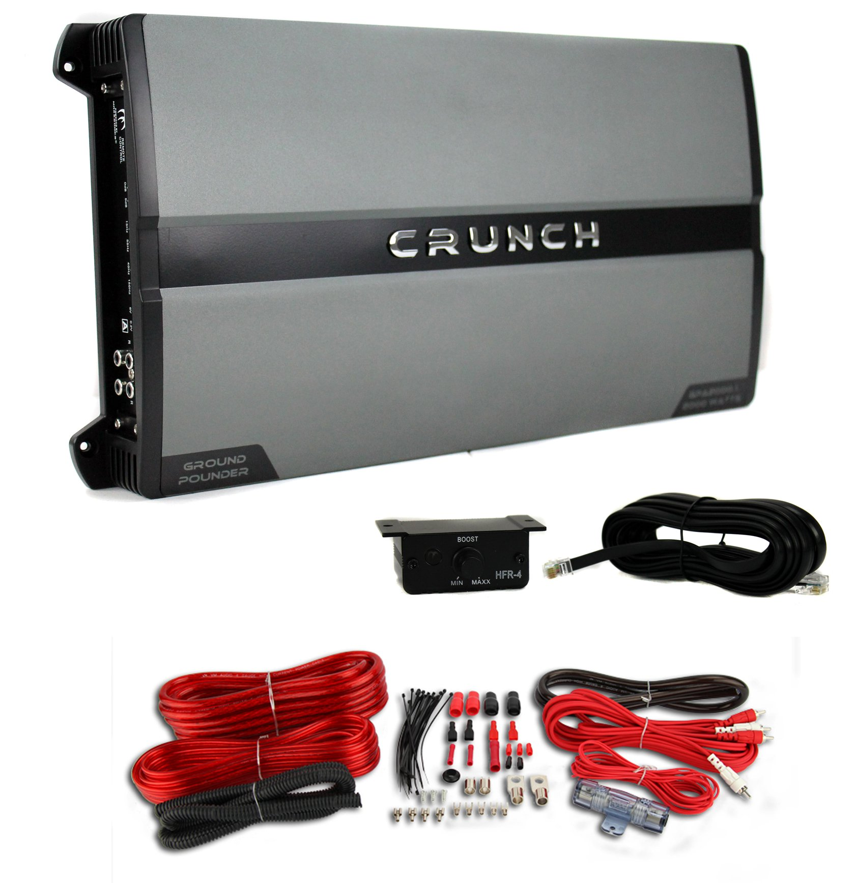crunch gpa2000 1 2000 watt 1 ohm stable car mono amplifier 4 gauge rh walmart com