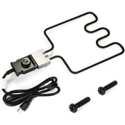WADEO Electric Smoker and Grill Heating Element Replacement Part with Adjustable Thermostat Cord Controller, 1500 Watt Heating Element for Masterbuilt Smokers & Turkey Fryers