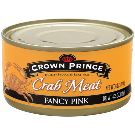 (2 Pack) Crown Prince Fancy Pink Crab Meat, 6 oz (Recipes For Imitation Crab Meat)