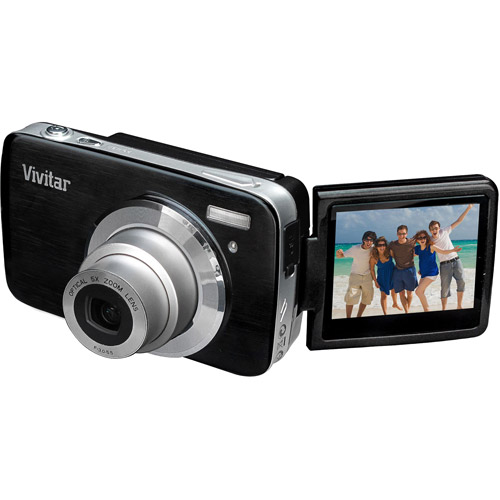 Vivitar Black ViviCam iTwist S536 Digital Camera with 16 Megapixels and 5x Optical Zoom