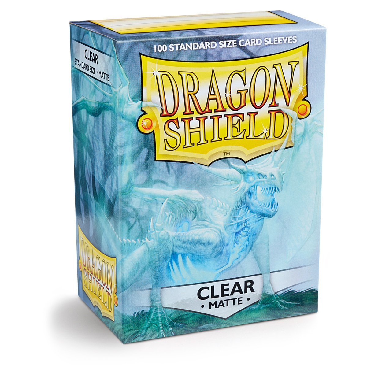 Dragon Shield Matte Clear 100 Deck Protective Sleeves in Box, Standard Size
