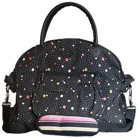 Sassy Caddy Women's Flirty Fitness Tote Bag, Hot Pink/Light Pink/Black/White