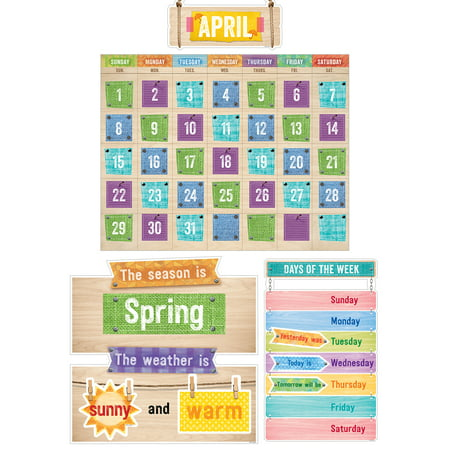 Creative Teaching Press Upcycle Style Calendar Set Bulletin Board](Bulletin Board Calendar)