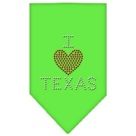 I Heart Texas Rhinestone Bandana Lime Green Large | Walmart
