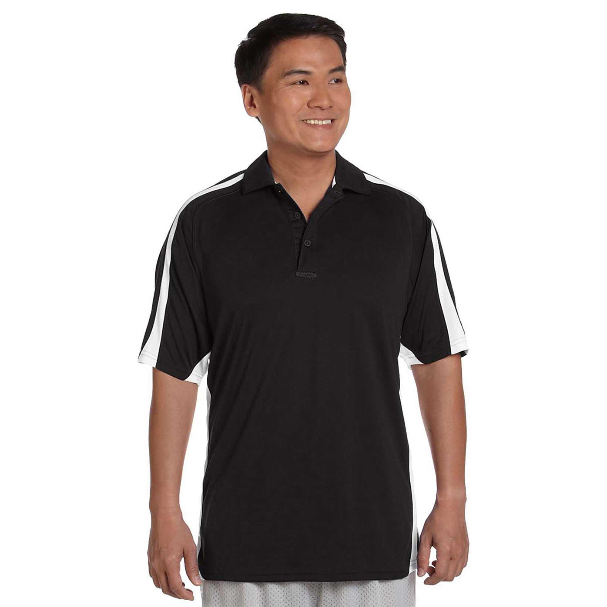 Russell Athletic Mens Team Game Day Polo T Shirt, Black/W...