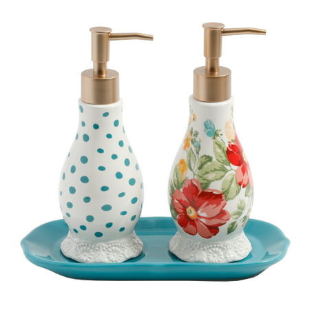 The Pioneer Woman Vintage Floral Soap and Lotion (Soap Dispenser Set)