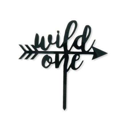 Wild One Arrow Birthday Cake Topper Tribal Birthday Party Black Acrylic One Year Old Smash 1st Cake Topper (9 Year Old Halloween Party Ideas)