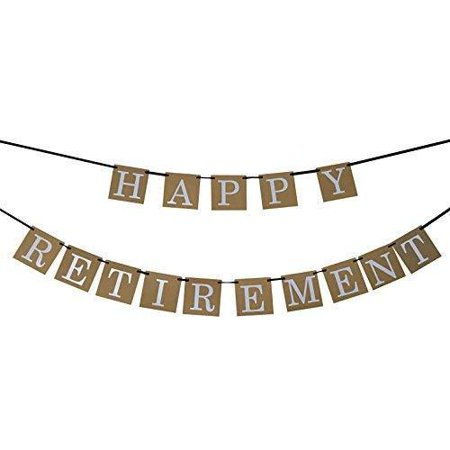 Happy Retirement Banner Sign - Retirement Party Supplies Favors ,Gifts