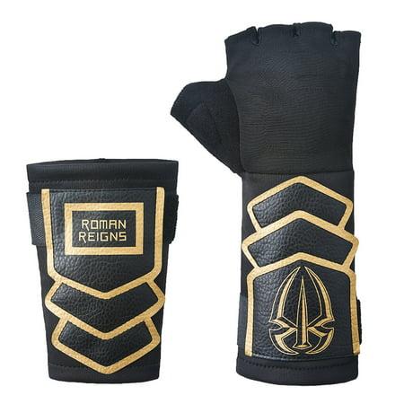 Official Authentic Roman Reigns Gold Replica Glove Set (2016) Black/Gold - Roman Reigns Costume