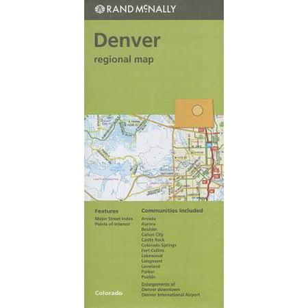 Folded Map Denver & Vicinity Co Regional (Denver Co We)
