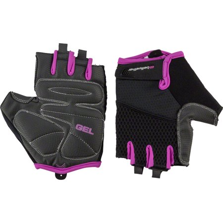 Gel Short Finger Glove - Gel Supreme Women's Short Finger Glove: Fuchsia SM