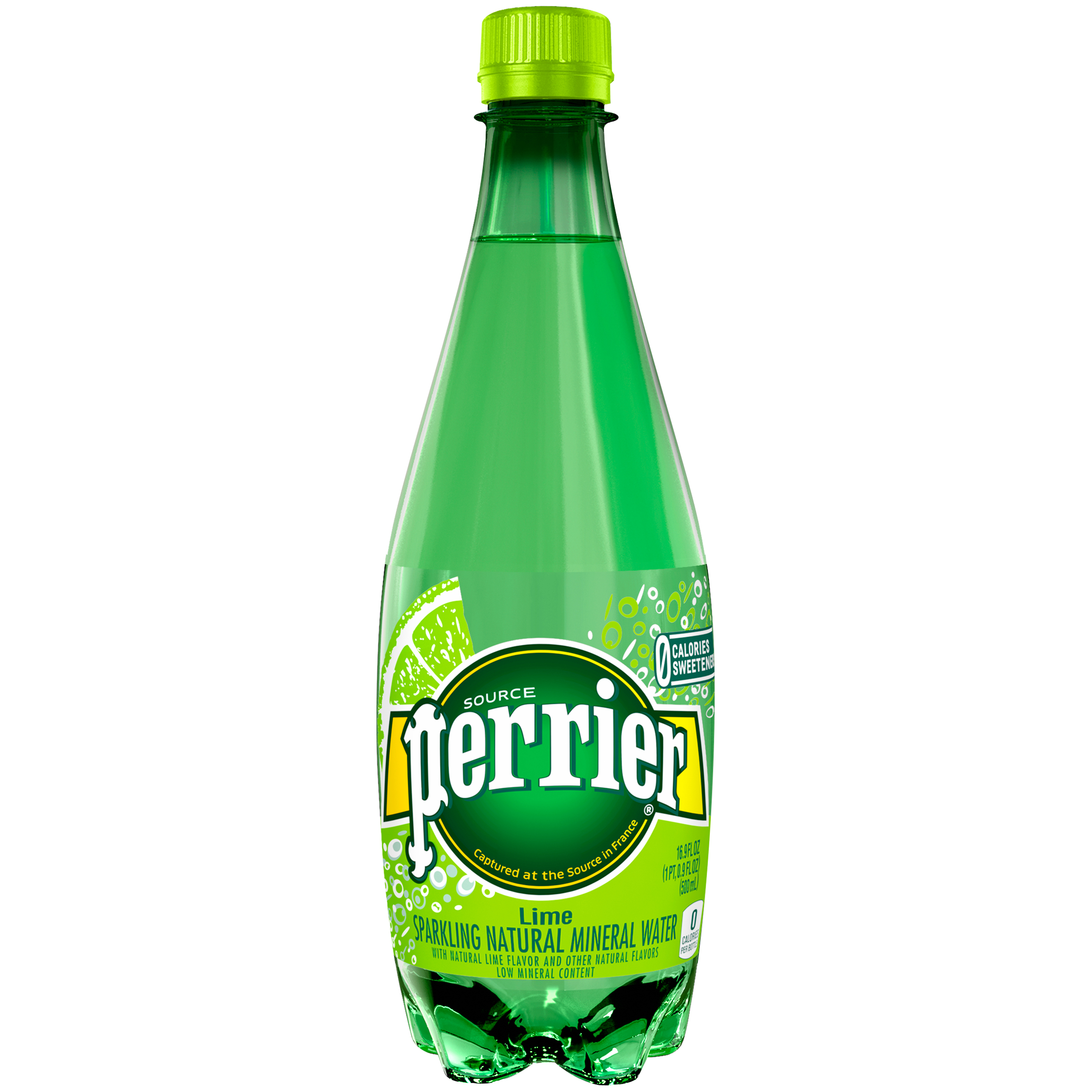 PERRIER Sparkling Natural Mineral Water, Lime 16.9-ounce plastic bottle