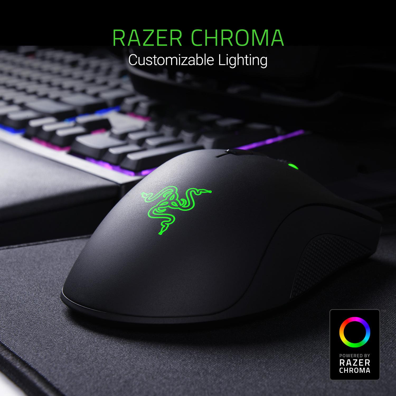 Razer DeathAdder Elite: True 16,000 5G Optical Sensor - Razer Mechanical  Mouse Switches (Up to 50 Million Clicks) - Ergonomic Form Factor - Esports