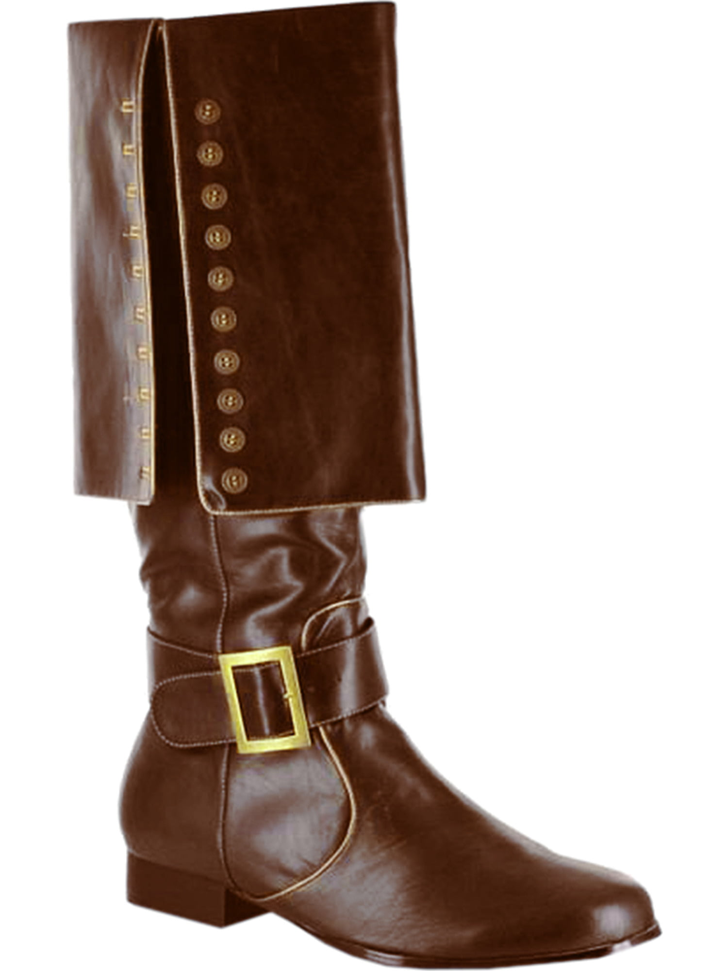 MENS SIZING 1 Inch Heel Pirate Boots Knee High With Studded Cuff