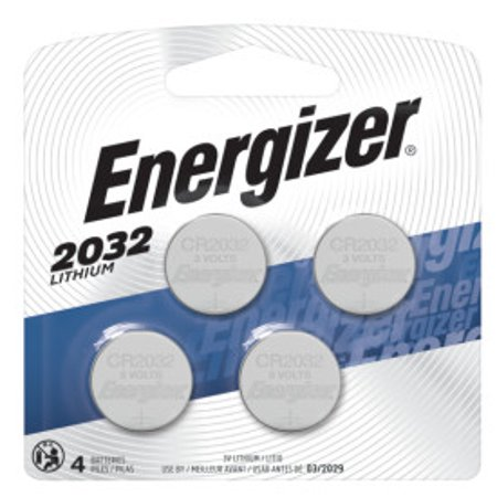 Energizer 2032 Lithium Coin Battery, 4 Pack 2032 Lithium Cell Button