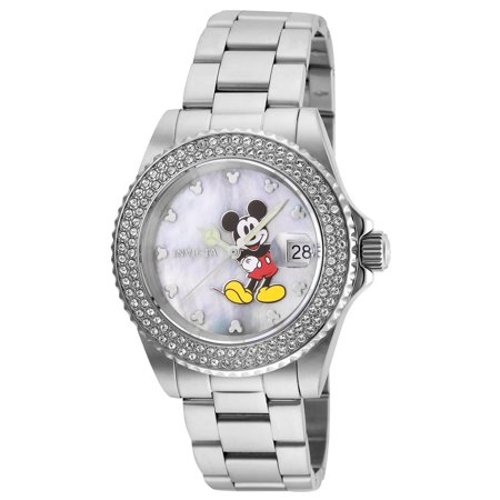- Women's Disney Limited Edition Steel Bracelet & Case Quartz Silver-Tone Dial Analog Watch 24750