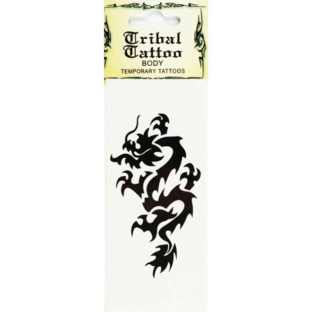 Temporary Dragon Tattoo  Body Tribal Tattoo (Dragons Fire)