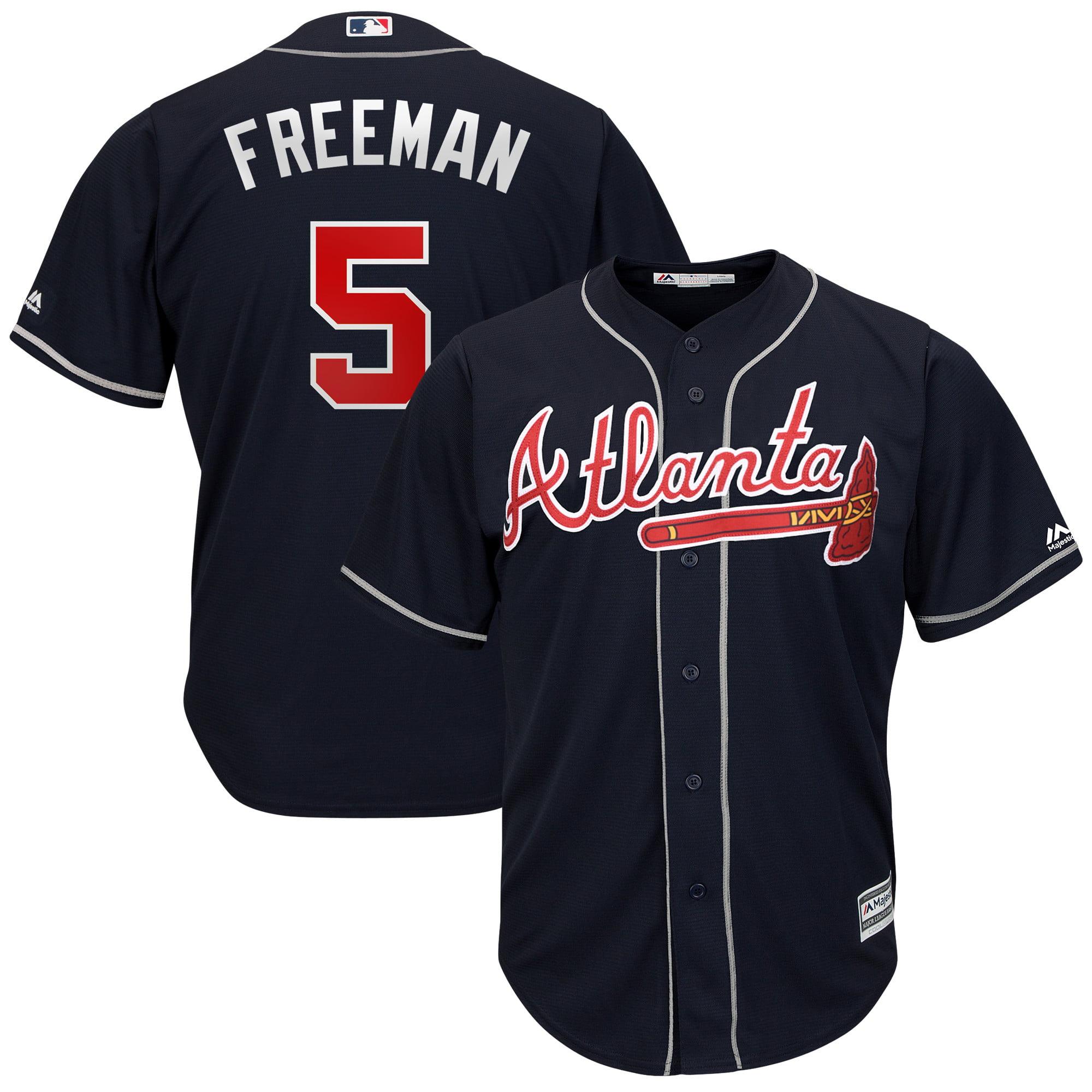 Freddie Freeman Atlanta Braves Majestic Big & Tall Alternate Cool Base Replica Player Jersey - Navy