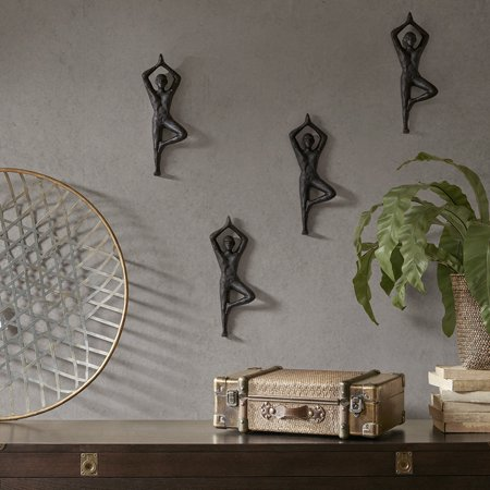 Home Essence Namaste Wall Decor Set of 4 - Walmart.com