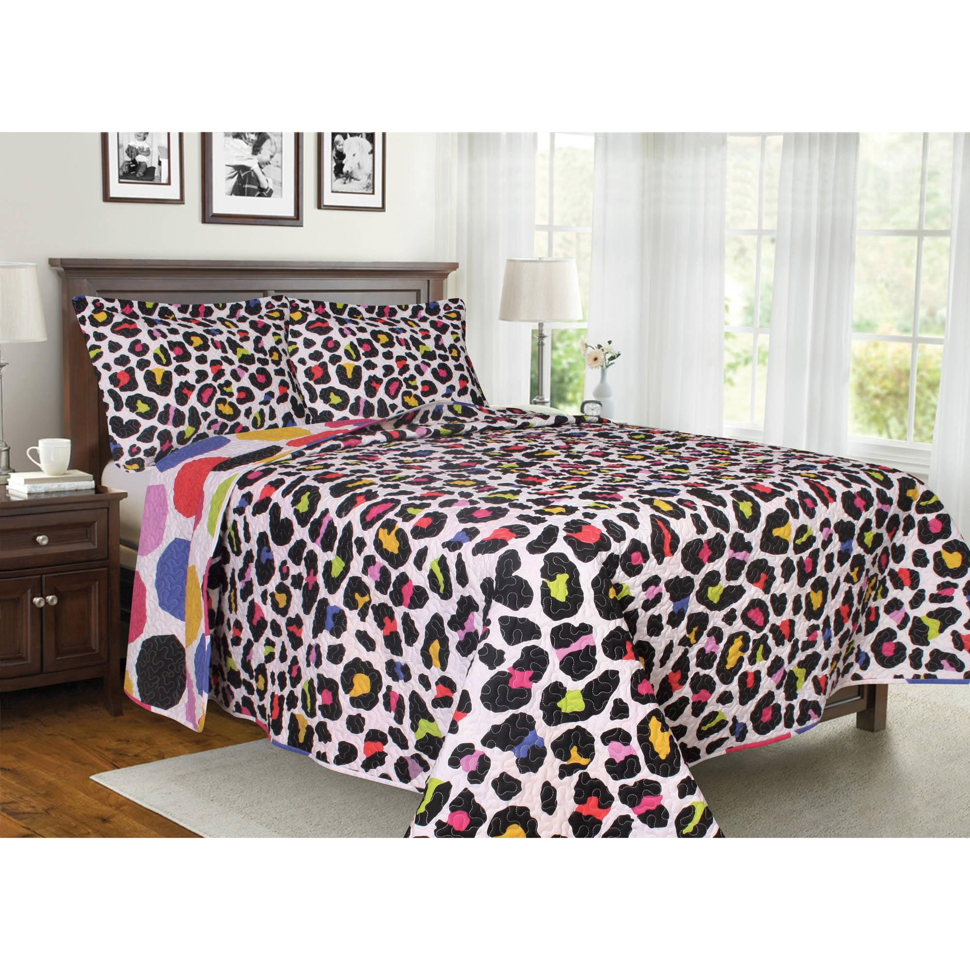 Animal Soft and Cozy Microfiber Bedding Quilt Set