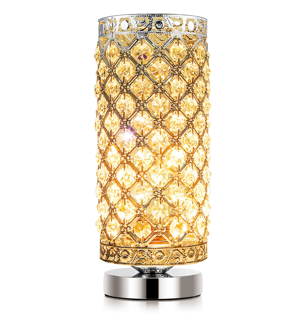 night table lamps minimalist ashata crystal table lamp nightstand light with 176 pieces k9 crystals110v 60w e26 lamps
