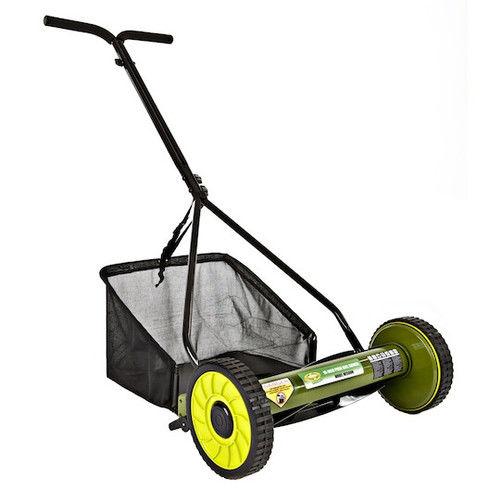 Sun Joe MJ500M Mow Joe 16 in. Manual Reel Mower with Grass Catcher by Snow Joe