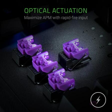 Razer Huntsman Elite: Opto-Mechanical Switch - Multi-Functional Digital  Dial & Media Keys - Leatherette Wrist Rest - 4-Side Underglow - Gaming