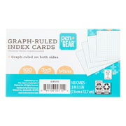 """Pen + Gear Graph-Ruled Index Cards, White, 100 Count, 3"""" x 5"""""""