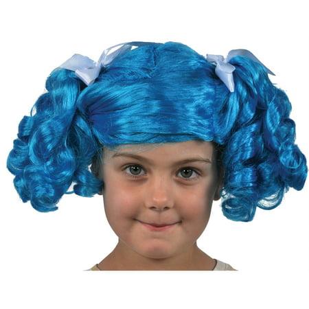 Blue Lalaloopsy Fluff N Stuff Wig Child Halloween Costume - Drawing Halloween Stuff