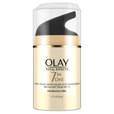 Olay Total Effects Anti Aging Face Moisturizer With Spf 15  Fragrance Free 1 7 Fl Oz