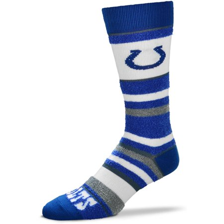 Indianapolis Colts For Bare Feet Women's Soft Stripe Quarter-Length Socks - No (Indianapolis Colts Newborn Socks)