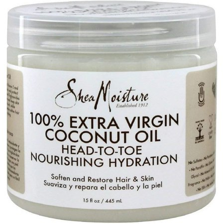 Shea Moisture 100% Xtra-Virgin Coconut Oil 15 Ounce Head-To-Toe (443ml) (3 -