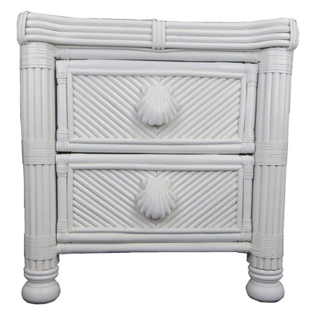 Spice Islands Wicker Coral Cove 2 Drawer Nightstand