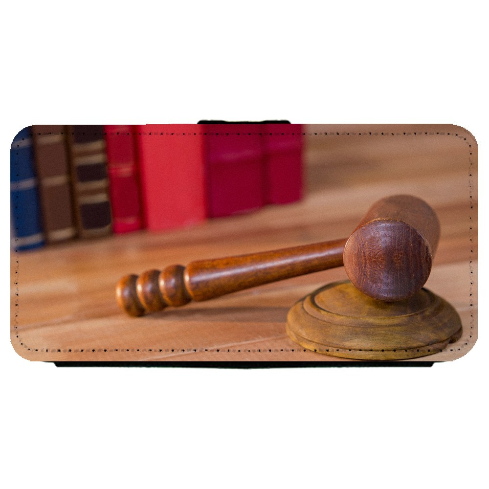 Image Of Photograph of a Judges Gavel Amongst Books Samsung Galaxy S5 Leather Flip Phone Case