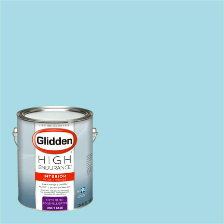 Glidden High Endurance, Interior Paint and Primer, Sausalito Sky, #17BG 65/182, Eggshell, 1 Gallon