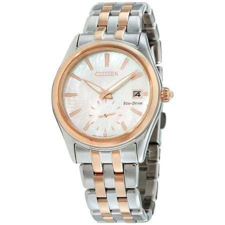 Citizen Women's Eco-Drive Corso Mother of Pearl Dial Stainless Steel Watch EV1036-51Y