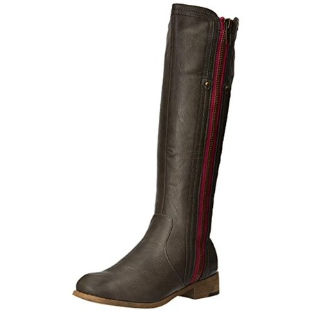 Luichiny Womens Express Lane Faux Leather Side Zip Riding Boots](Express Shoes And Boots)