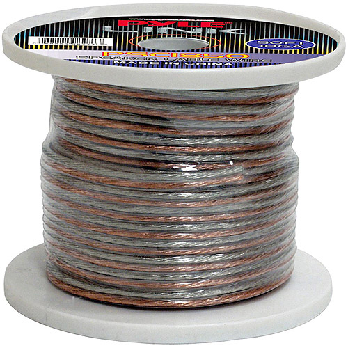 Pyle 18 Gauge High Quality Speaker Zip Wire, 50'