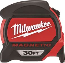 Milwaukee Magnetic Tape Measure, 30 Ft.