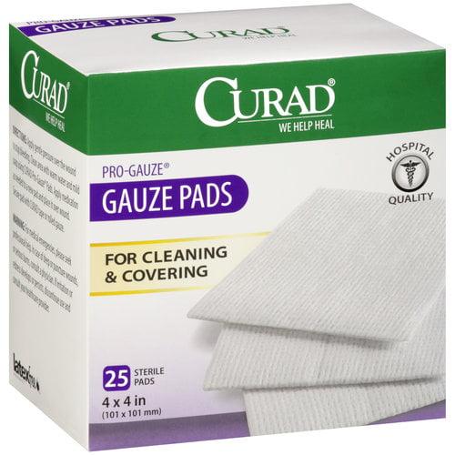 "Curad Pro-Gauze Sterile Pads, 4"" x, 4"", 25ct"