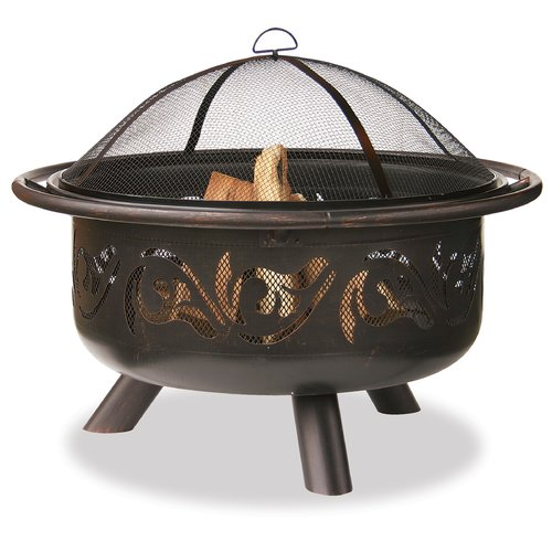 Uniflame Corporation Steel Wood Burning Fire pit