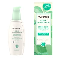 Aveeno Clear Complexion Moisturizer with SPF 30 Sunscreen, 2.5 fl. oz
