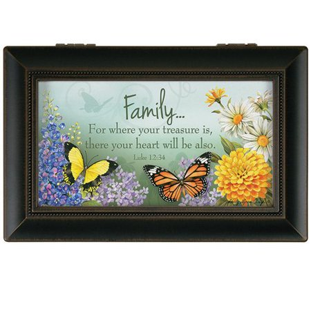 Music Treasure Box - Carson Home Accents Family Treasure Music Decorative Box