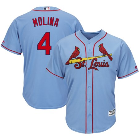 Yadier Molina St. Louis Cardinals Majestic Alternate Cool Base Player Jersey - Horizon Blue