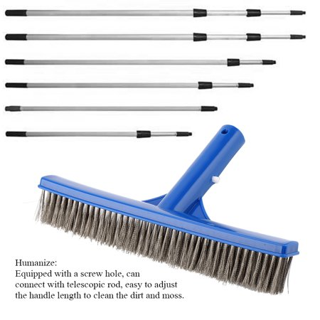 WALFRONT 10in Swimming Pool Steel Brush Bottom Walls Cleaning Supplies for  Pond Spa Hot Spring , Cleaning Steel Brush, Steel Brush for Pond Spa Hot ...