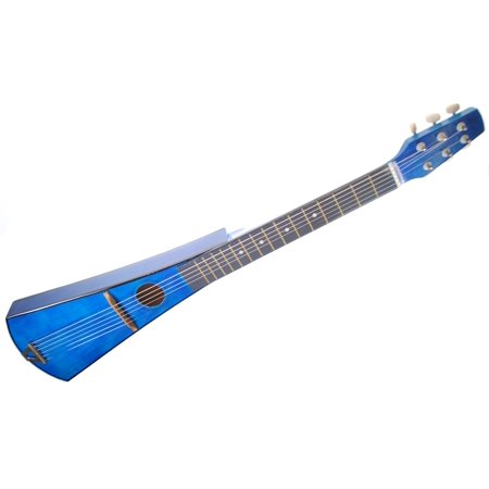 Shop4Omni Steel String Backpacker Travel Guitar with Bag - Blue
