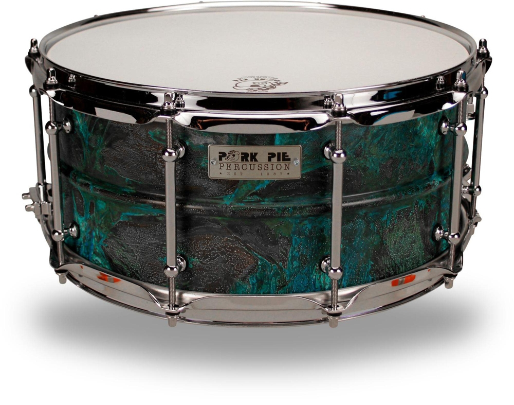 Pork Pie Patina Brass snare drum 14 x 6.5 in. by Pork Pie