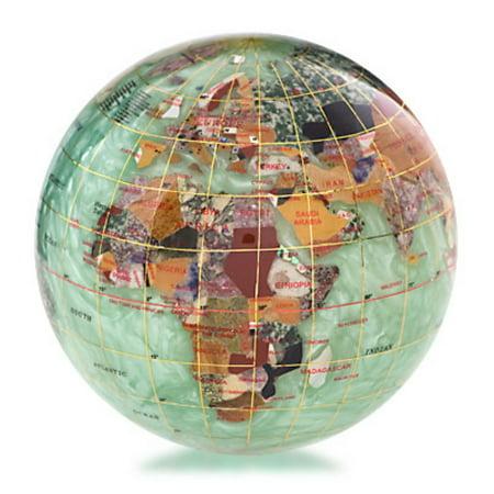 Marble Globe Paperweight (Peridot Green 4-in. Gemstone Globe Paperweight)