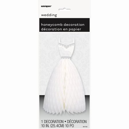 Centerpieces For Bridal Shower (Honeycomb Wedding Dress Centerpiece Decoration, 12 in, White,)